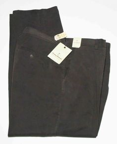 Men's Tommy Bahama Silk Wilshire Pants Pleated Brown Size 40 X 30