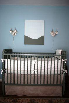 charcoal Jenny Lind crib