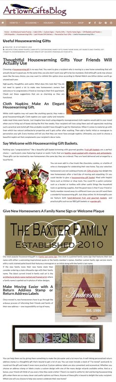 Useful Housewarming Gifts Housewarming Gifts, Return Address Labels, Thoughtful Gifts, House Warming, Gift Ideas, Blog, Inspiration, Biblical Inspiration, Blogging