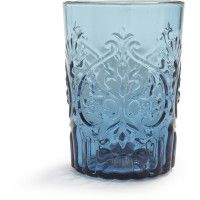 Vintage Blue Glass, love these tumblers.