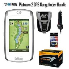 Golf Buddy World Platinum 2 GPS Rangefinder Kit by Golf Buddy. $349.00. This Set Includes:Golf Buddy World Platinum 2 GPS RangefinderUSB Platinum Car ChargerDeluxe Small Camera CaseCamcorder/Camera LCD Screen ProtectorsCallaway HX Bite Golf Balls 3 PackGolf Buddy World Platinum 2 GPS Rangefinder:The World Platinum II can store up to 40,000 courses in its memory, and comes preloaded with over 33,000 courses from all around the globe.As with all GolfBuddy products, ther...