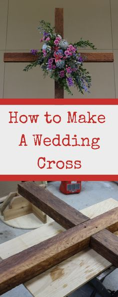 This tutorial and video will show you how to make a wedding cross. Perhaps you have an upcoming wedding. This makes a spectacular centerpiece / backdrop for a wedding ceremony. Or maybe you could make a cross for your church. How about your own yard? Wedding Altars, Diy Wedding, Wedding Events, Wedding Gifts, Wedding Ceremony, Wedding Ideas, Church Wedding, Wedding Ring, Perfect Wedding