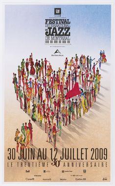 Affiche du Festival international de Jazz de Montreal 2009. Création : Yves Archambault
