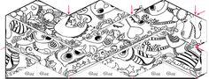 Un patron gratuit! Fabriquer un Kaleidocycle avec des animaux! - Trucs et Astuces - Des trucs et des astuces pour améliorer votre vie de tous les jours - Trucs et Bricolages - Fallait y penser !