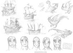 Book Cover Sketches on Behance