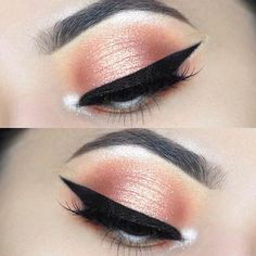 Peachy Prom Eye Makeup Look . Peachy Prom Eye Makeup Look … Peachy Prom Augen Make-up Look Prom Eye Makeup, Shimmer Eye Makeup, Dramatic Eye Makeup, Neutral Makeup, Eye Makeup Art, Homecoming Makeup, Natural Eye Makeup, Blue Eye Makeup, Eye Makeup Tips