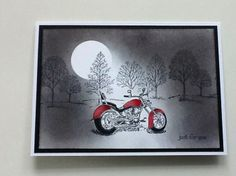 motorcycle and lovely as a tree stamp.  Neat idea