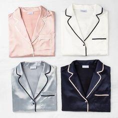 The new original Riviera pyjama collection will all be back in stock soon! Cozy Pajamas, Satin Pajamas, Pyjamas, Night Suit, Night Gown, Lingerie Sleepwear, Nightwear, Pajama Outfits, Cool Outfits