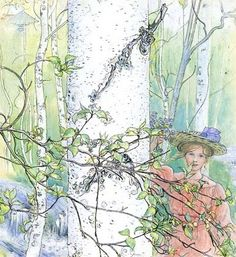 Spring Artwork By Carl Larsson Oil Painting & Art Prints On Canvas For Sale Carl Larsson, Art Graphique, Arts And Crafts Movement, Large Painting, Les Oeuvres, Coloring Pages, Coloring Sheets, Illustration Art, Retro Illustrations