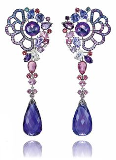 Disney and Chopard Belle earrings inspired by Beauty and the Beast.