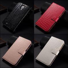 De nieuwste trends en speciale acties: Smartphone hoesje Samsung Galaxy S5 Croco bookcase...