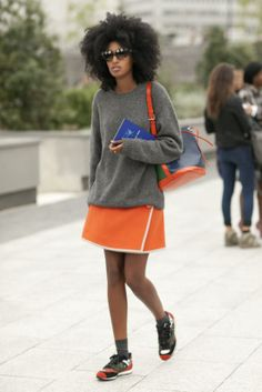 Très Chic! The Best Street Snaps at Paris Fashion Week: Keeping it cute in dots.  : Julia Sarr-Jamois knows that Fashion Week is a sport.
