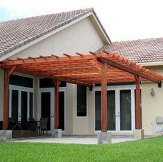 simple practical inexpensive affordable pergola patio