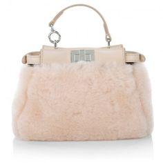 Fendi Tasche – Micro Peekaboo Montone Liscio / Nappa Shiny Crossbody Light Rose – in rosa – Umhängetasche für Damen