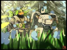 Knowing the nature with Bastion and Orisa p.5 by miyuu490