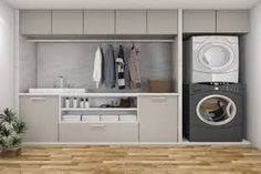 Hardware Resources shares 6 quick tips for organizing a multipurpose . - Hardware Resources shares 6 quick tips for organizing a multipurpose washroom # design - Laundry Cupboard, Laundry Closet, Laundry Room Organization, Laundry In Bathroom, Laundry Hamper, Organizing, Garage Laundry Rooms, Laundry Cart, Utility Closet