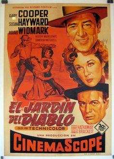 Original Film Title: GARDEN OF EVIL Poster Title: JARDIN DEL DIABLO, EL Director: HENRY HATHAWAY Year: 1954 Film Nationality: USA