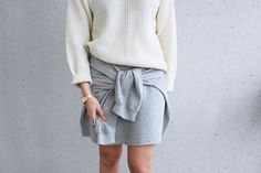 LACK OF COLOUR - Diy: Sweat shirt skirt Outfit