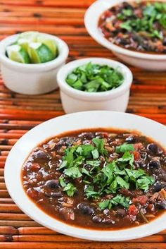 This Slow Cooker Vegetarian Black Bean and Rice Soup with Lime and Cilantro from Kalyn's Kitchen was one of my picks for Top Twenty Tempting Slow Cooker Dinner Recipes of 2013  [via Slow Cooker from Scratch] #SlowCookerBestRecipes