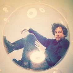 Tim Burton in a bubble