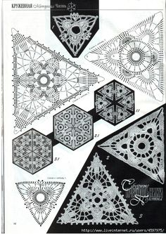 motivi crochet triangolari