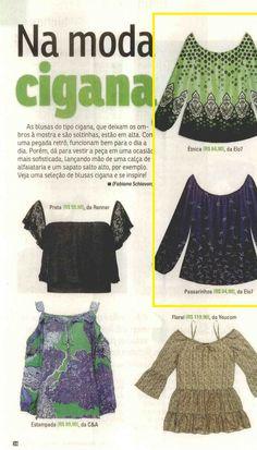 Dois produtos da Elo7 foram publicados na Revista Da Hora em matéria sobre blusas ciganinhas.