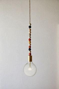 The Johnston's: {DIY wooden bead light fixture}
