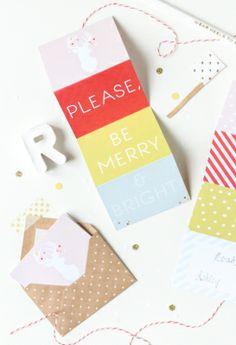 DIY // Printable accordion gift tags