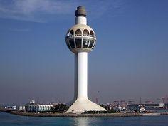Jeddah Light the world's tallest lighthouse in Saudi Arabia.