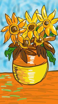 Phone Sketch. Homage Van Gogh. Crap we drew blog. http://crapwedrew.blogspot.com/