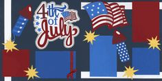 4th of July Page Kit