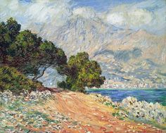Menton vu du cap Martin (C Monet - W 897),1884, Museum of fine Arts, Boston.