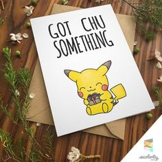 PIKACHU PUN BIRTHDAY Greeting Card Pun bday Cute by ecolorty Greeting Card… More