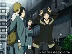 I hate it when i walk outside and someone throws a fridge at me durarara