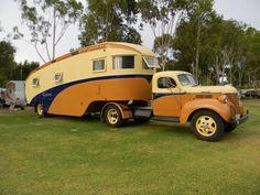 "The legendary Grace Bros 1949 built ""Highway Palace"" via Vintage Caravan Magazine's facebook page"