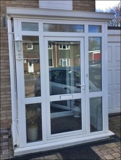 UPVC Porch and entrance door by Unicorn Windows Ltd of Leighton Buzzard, Bedfordshire
