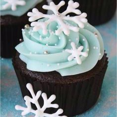 Cool winter cupcakes.