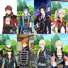 My hard work !  Kaito Shiroya Kikyo Ran Ayu Rindoh Fuyukiku kiku Yayoi Guys in season 2  Shall we date Destiny ninja 2 Otome game Anime guys