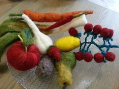Needle felted vegetables and fruits, what a variety by Feltnlove !