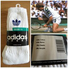 ef623c79760c 3 Pairs 1990s Adidas Crew Tennis Socks 80s Sports Ankle Trainer UK 3 4 5 6  7 8 9