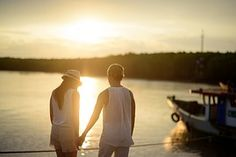 Couple, Romantic, Love, Sunset, Scene