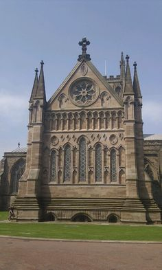 Hereford Cathedral in July