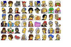 Simpsons Vol. Cartoon Icons, Cute Stickers, Peanuts Comics, Drawings, Free, Drawing, Paintings, Paint, Draw