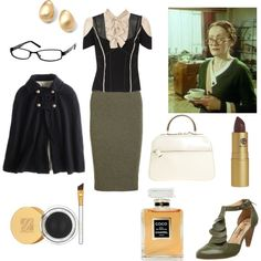 """Miss Lemon - Hercule Poirot Series"" by historychick on Polyvore"