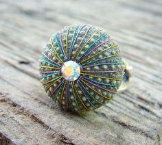 Sea Urchin Collection - Sterling Silver Multicolor Ring