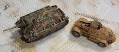1/144 Jagdpanzer IV and SdKfz 222