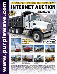 Construction Equipment Auction  October 11, 2012  http://purplewave.co/121011