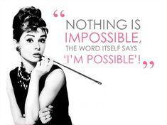 Quotes Audrey Hepburn Impossible