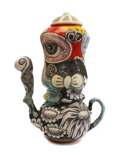 """Big Eyed Ok Teapot"" — Michael Lucero"