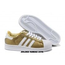 cheap for discount 94e2d f49cb Chaussures En Solde Homme Chaussures En Cuir Adidas Superstar Ii Noir En Or  Blanc-20